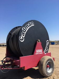 "Used Cadman Hose Reel w/ 1 Mile 6"" Hose"