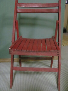 vintage red accent chair