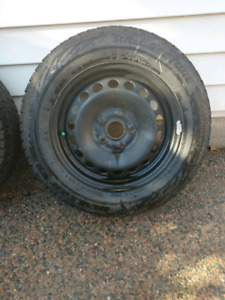 195/65r15 Bridgestone Blizzak WS80 on steel rims