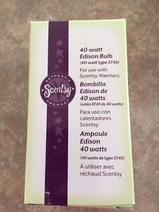 NEW SCENTSY EDISON BULB AND MELODY SHADOW INSERT $15FIRM