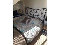 (Almost New ) only spare room Metal framed double bed