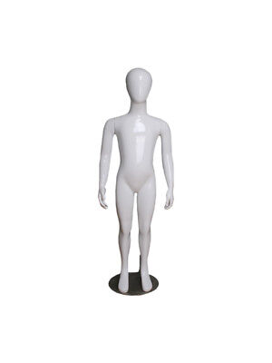 Abstracta 3-4 Years White Glossy Childrens Mannequin