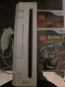 Nintendo Wii with Two Games