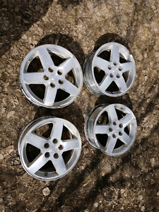 "(4) OEM Chevrolet Cobalt 16"" aluminum wheels with sensors"