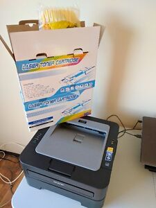 Brother HL-2240D Laser Printer + Three Toner Cartridges