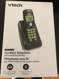 V-TECH CORDLESS TELEPHONE - DECT 6.0 WITH CALL DISPLAY