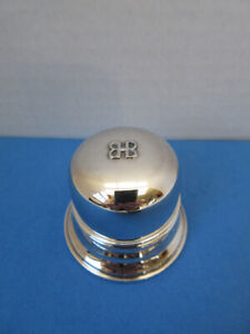 Birks Regency Sterling Silver Plate  Dome Top Wedding Ring Box