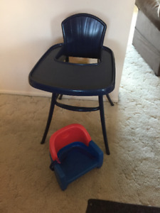 High Chair & Fisher Price Booster Chair for Sale