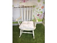 Wooden Rocking Chair (Diamanté Cushion included)