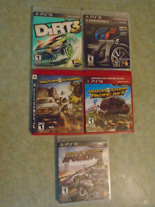 PS3 racing games...popular titles ! Bundle of 5 for only $20 !!