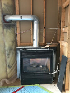 Double Sided Natural Gas Fireplace