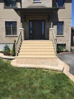 Finition de béton, terrasse, escaliers, crépi