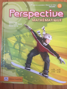 Perspective Mathematique manuel de leleve B volume 1