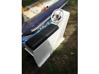 Double jockey console for rib, boat, inflatable