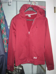 Ladies Under Armor Athletic Sport Full Zipper Hoodie - Large