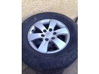 4x mitsubishi l200 alloy wheels