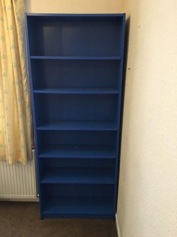 Ikea billy blue bookshel in greenock inverclyde gumtree for Ikea blue billy bookcase