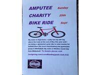 Amputee charity bike ride