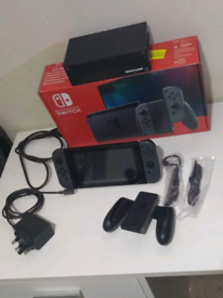 Nintendo Switch console grey improved battery