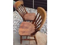 Two kitchen/dining chairs