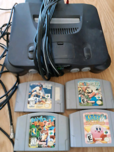 N64 and 1 controller. Banjo Kazooie, Kirby and Mario Golf!!