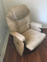 2 two chairs with foot rests