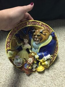 Beauty and the Beast Collector Plate  Disney