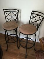 High Back Chairs - for counter top or bar