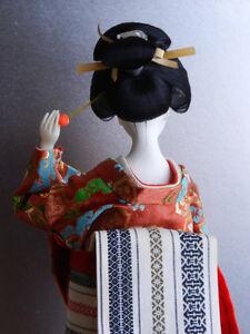 Vintage Japanese Geisha Doll in Traditional Kimono Kitchener / Waterloo Kitchener Area image 5