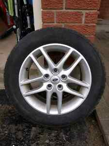 Good condition winter tires with rims. Kitchener / Waterloo Kitchener Area image 1