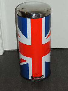 Large 'Union Jack/British' Pedal Bin/Trash Can *GOOD condition*