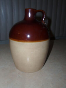 REDUCED~Vintage Two Tone Stoneware Crock Moonshine Whiskey Jug ~