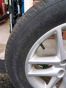Good condition winter tires with rims. Kitchener / Waterloo Kitchener Area image 3