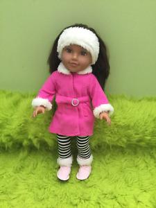 """18"""" Newberry Girl Doll Brunette Winter"""