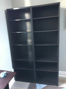 Brown Black Ikea Besta bookshelf