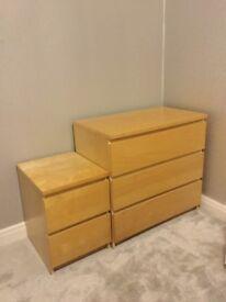 Ikea Malm 2 & 3 drawers