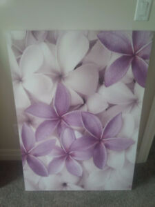 Large Flower Canvas Wall Art