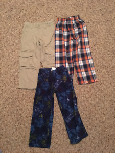 Boys 1 pair of pants and 2 sleepwear pants (size 4T)