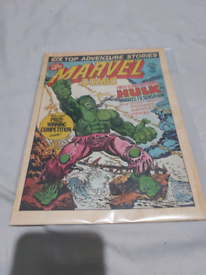 The new marvel comic first issue featuring the hulk 1979