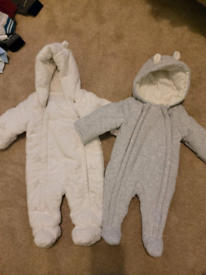 3-6 month pramsuits 10 pound baby clothes
