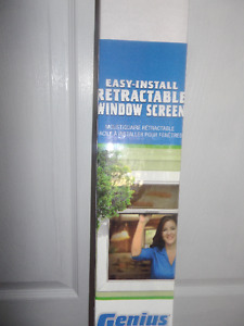 Easy-install retractable window screen REDUCED TODAY TO $39