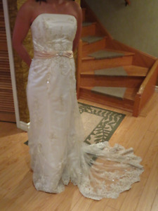 Wedding gown and reception dress S, 5 to 5.5 ft tall $100