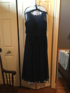 Two Bridesmaid dresses unused (Bordeaux and Navy) - Plus size