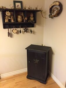 For sale beautiful new handmade primative cabinet