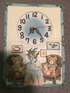 Ceramic Teddy Bear Clock London Ontario image 1