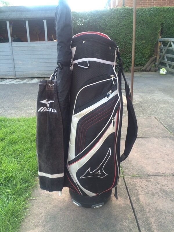 690b0ed385e4 Mizuno cart bag with mizuno umbrella and matching mizuno towel | in ...