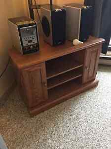 Tv stand with cupboard