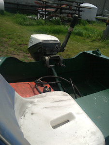 15 ft Aluminum Fishing Boat, Trailer and Motor