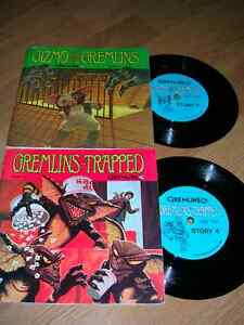 "Records. 2 ""Gremlins"" Read-Along Records & 16-Page Books 1984"