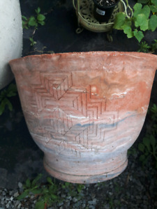 Large clay flower pot